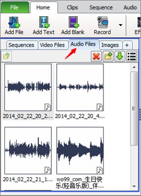 松松的站长路视频制作-Videopad加入音频